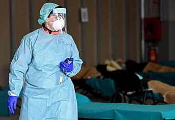 Lege på jobb på et sykehus Brescia i Italia.