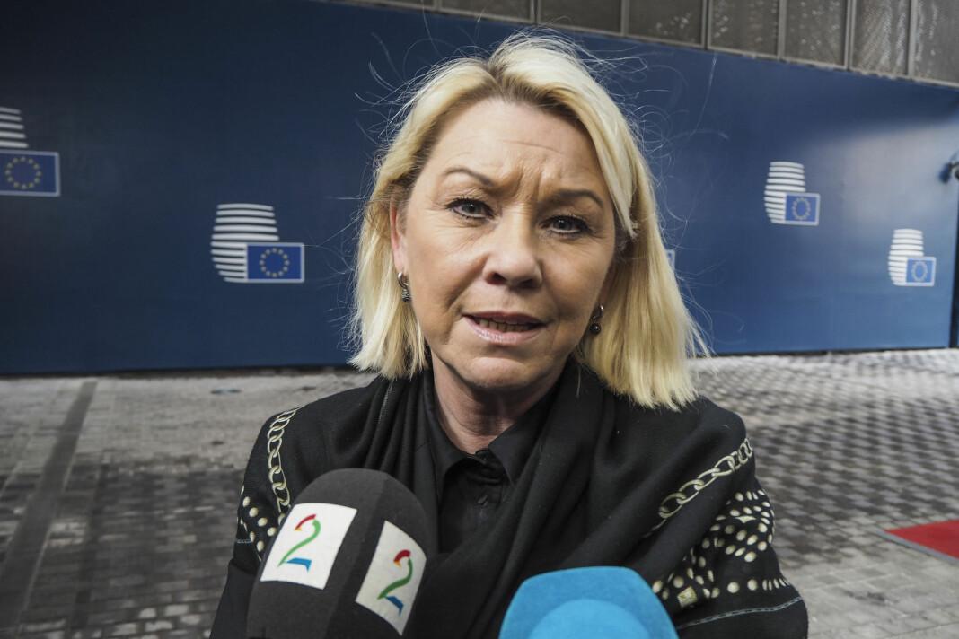 Justis- og beredskapsminister Monica Mæland (H) sier listen over de viktigste funksjonene kan bli endret.