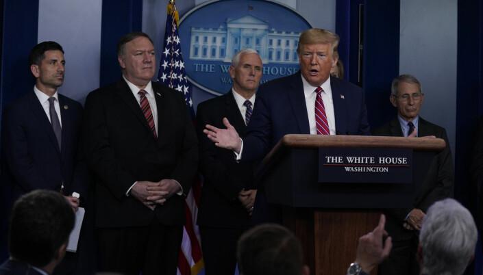 Trump fikk kritisk korona-spørsmål. Skjelte ut NBC-reporter på direkten