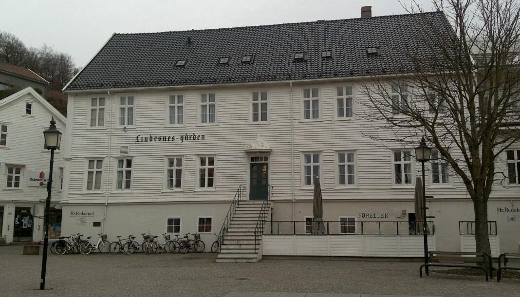 Lindesnes-gården i Mandal er redaksjonslokale for Lindesnes Avis.