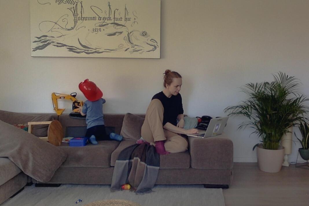 Aurora Hannisdal (33). Journalist, Oslo. – Det går overraskende bra faktisk. Sønnen min klarer å leke litt selvstendig og det er bare en av ham (puh!), og så får jeg mer tid med ham nå, og det tror jeg egentlig veldig mange foreldre ønsker seg.