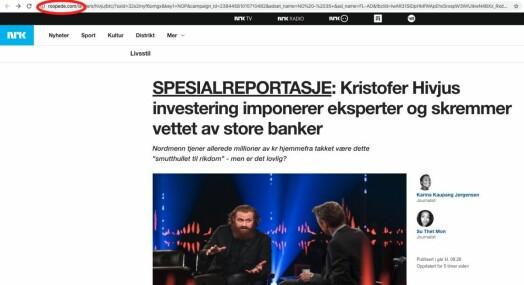 Falsk NRK-artikkel om Kristofer Hivju
