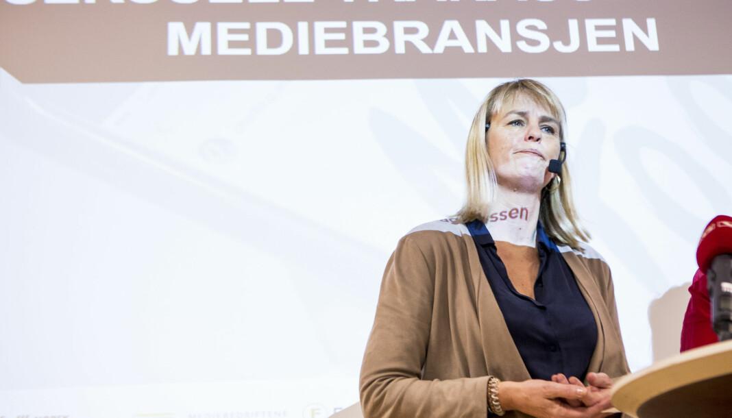 Randi S. Øgrey, administrerende direktør i MBL, mener mediene på få en spesifikk krisepakke.