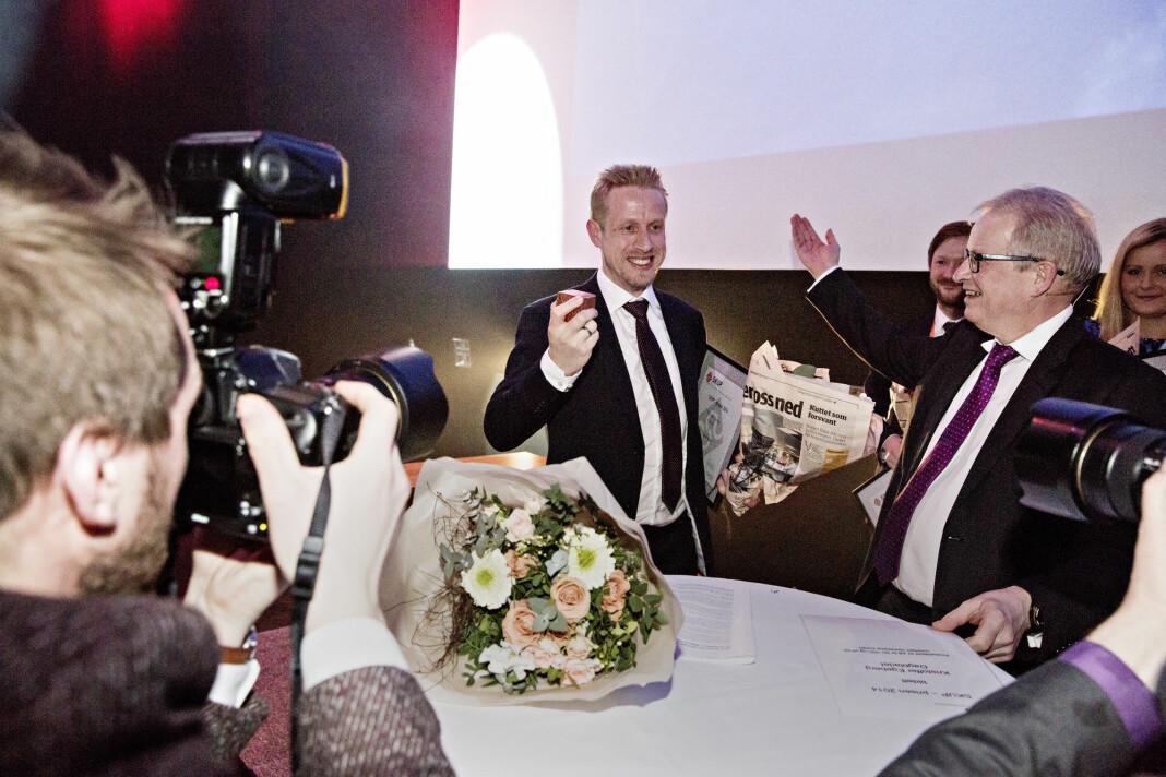 Tidligere Dagbladet-journalist Kristoffer Egeberg (nå Faktisk.no-redaktør) vant Skup-prisen i 2015.