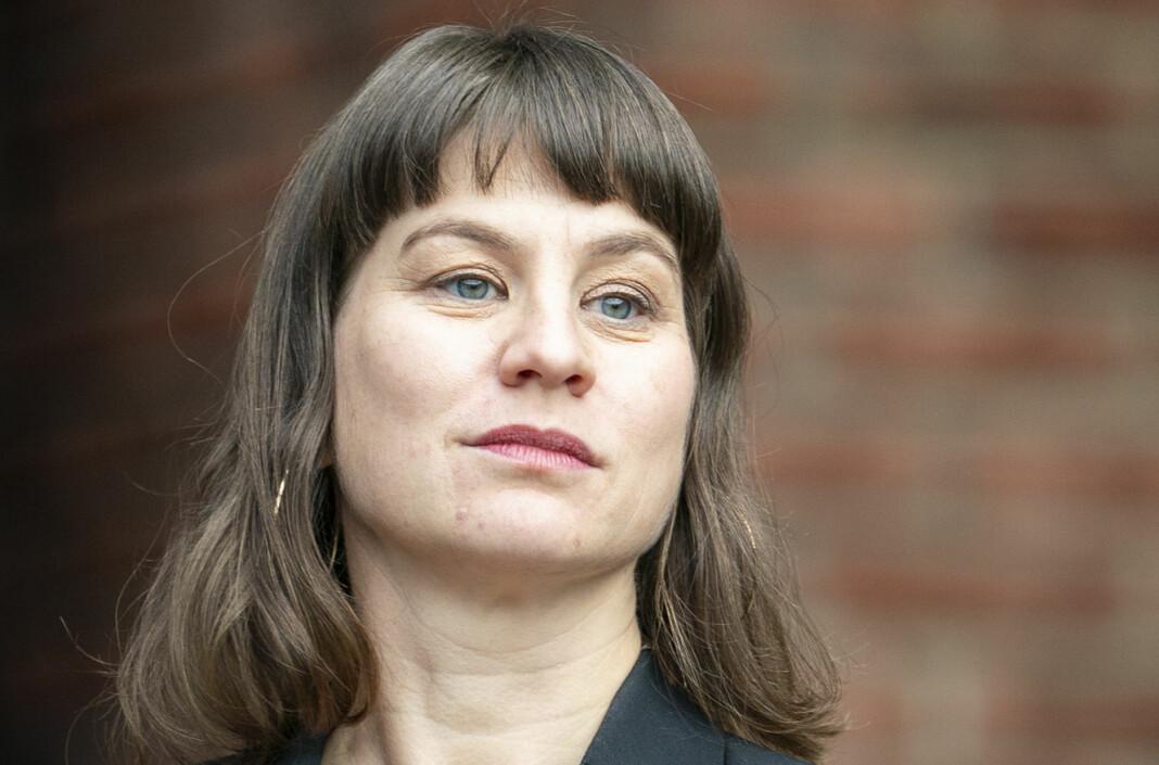 Kulturbyråd Rina Mariann Hansen gjør seg klar for å utbetale en ny runde med pressestøtte fra Oslo kommune.