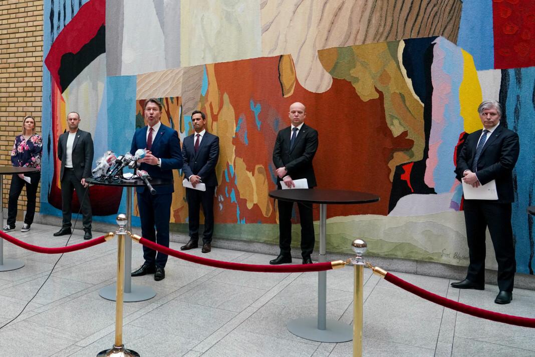 Stortinget la fram den endelige versjonen av krisepakke 3 tirsdag formiddag.