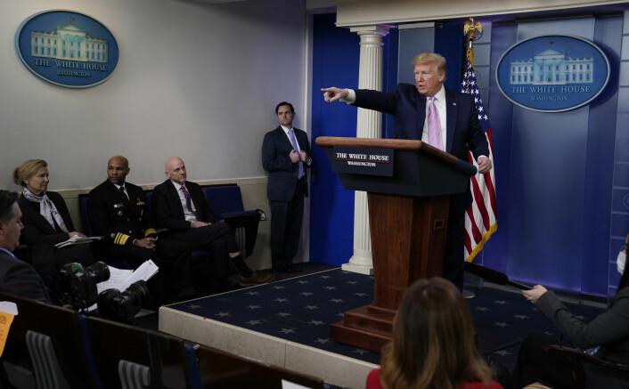 Noen Trump-rådgivere mener presidenten er for glad i pressekonferanser