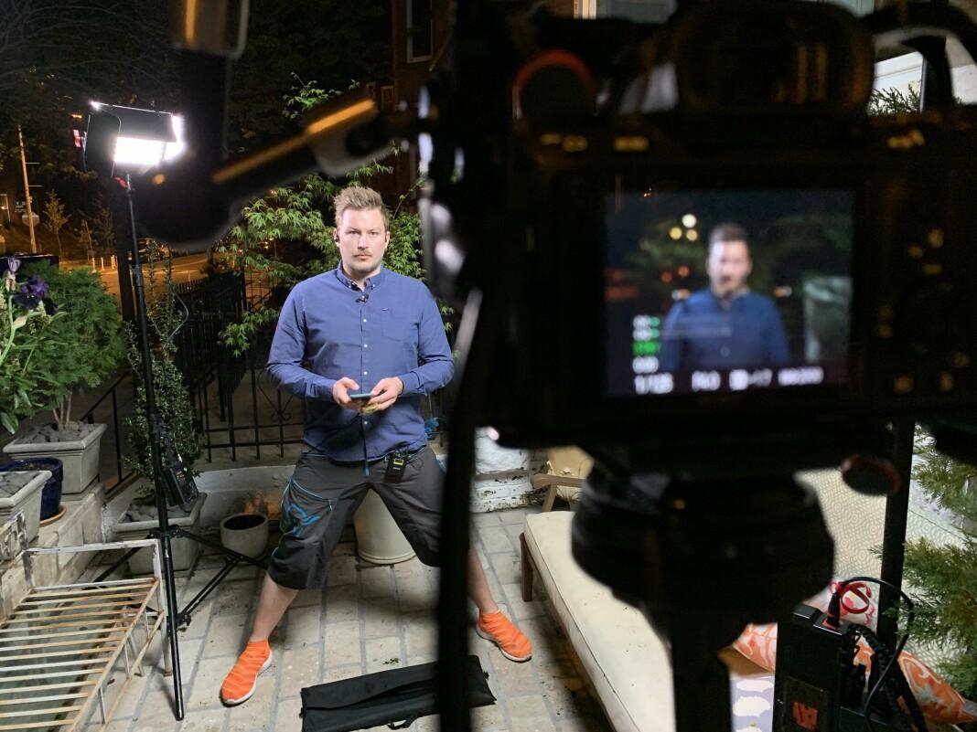 Lars Os har vært fotograf og videojournalist for NRK i USA siden 2017, men hadde han aldri stått foran kamera før pandemien. Nå blir han NRKs korrespondent i Washington DC.