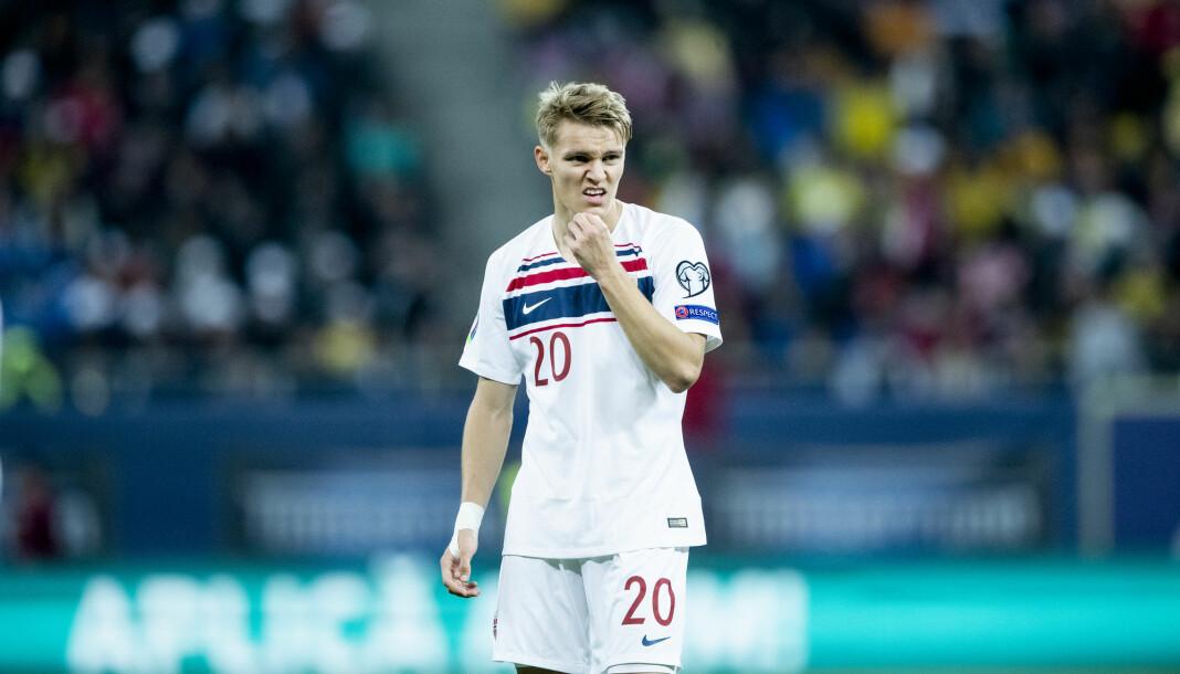 Faren til Martin Ødegaard (bildet) har klaget inn VG til PFU. Her er sønnen i aksjon for Norge i kamp mot Romania i fjor høst.