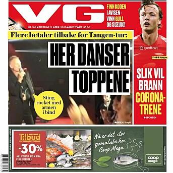 VGs papirforside tirsdag 21. april.