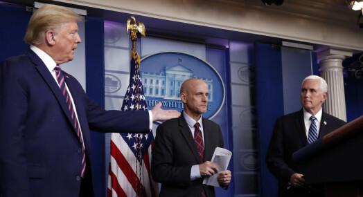 Ingen spørsmålsrunde etter Trumps pressebrifing
