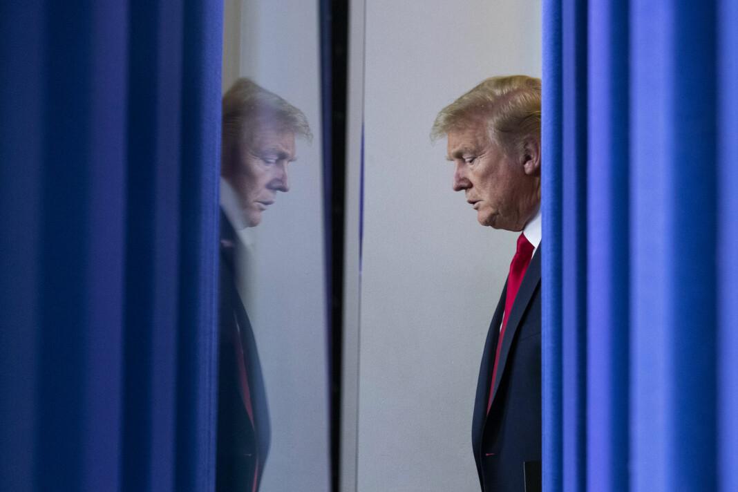 President Donald Trump avsto lørdag fra å holde sin daglige pressekonferanse om koronaepidemien. Han skrivet at han ikke ser vitsen når mediene ifølge ham kun spør fiendtlige spørsmål.