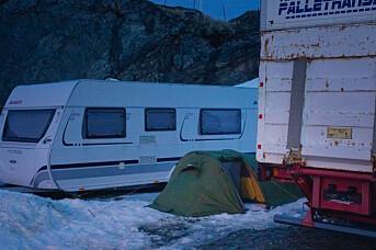 Første natt i telt i Skarsvåg ved Nordkapp.