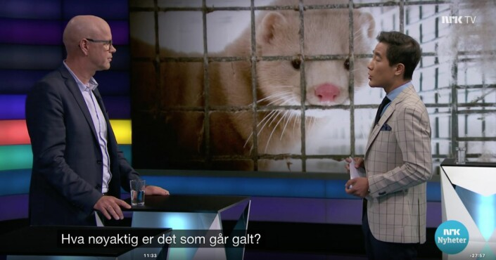 Debatten på NRK, 21. mai 2019, Mattilsynet og minkfarmen, ble felt på to VVP-punkter i PFU.