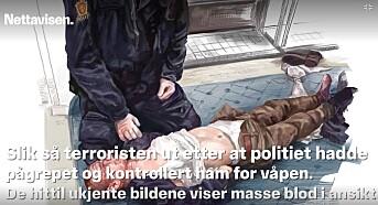 Nettavisen har fått Siv Grethe Bøhn-Pettersen til å tegne versjoner av bildene.