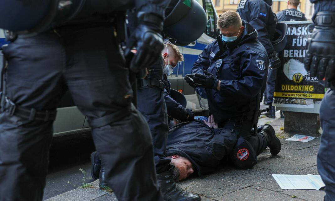 Demonstranter angrep TV-team i Berlin