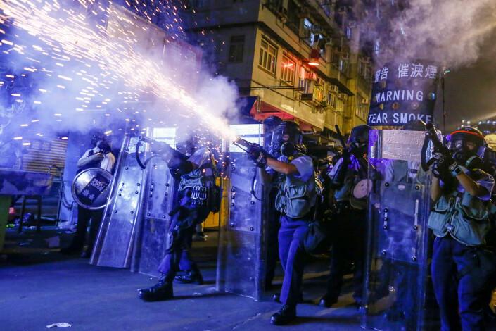 Nok en prisvinnende bilde fra Hongkong-opptøyene.