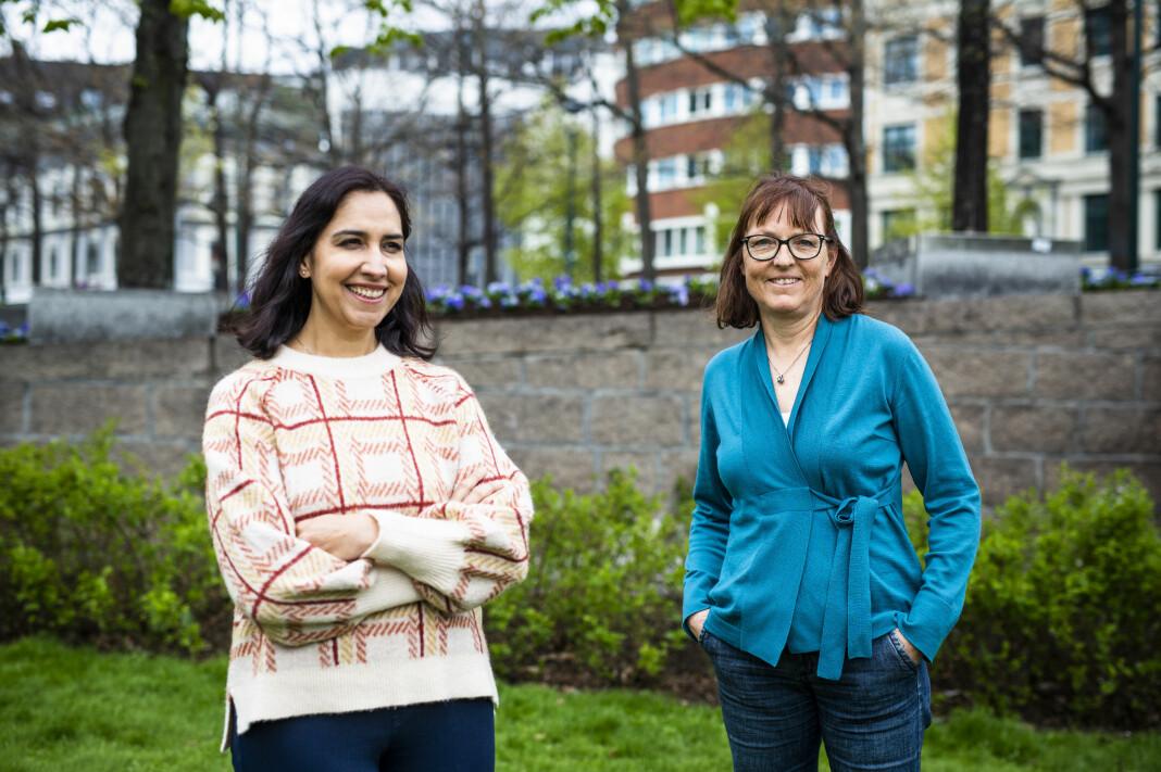 Shazia Majid (t.v) og Anne Stine Sæther er to av VG-journalistene som vant årets Skup-pris.