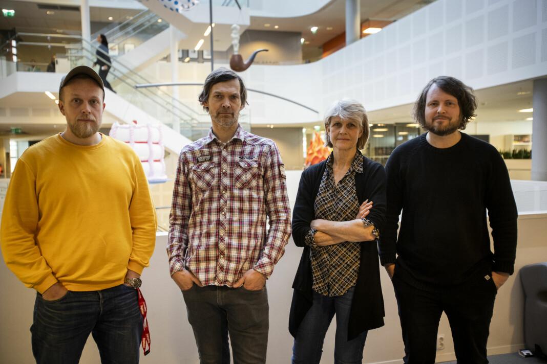 Torgeir Krokfjord, John Rasmussen, Siri Gedde-Dahl og Bernt Jakob Oksnes i Dagbladet har stått bak avsløringen «Glidens pris».