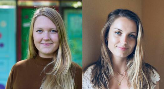 Vilde Bratland Hansen og Marte Iren Noreng Trøen er ansatt i NRK Innlandet
