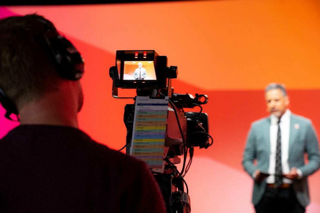 Kulturminister Abid Raja presenterte regjeringens mediepakke under Nordiske Mediedager Online.