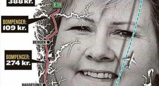 Dette syv år gamle VG-kartet viser ikke hva du må betale i bompenger på norgesferie