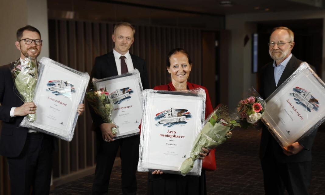 Årets redaktører: Fra venstre Bjørn K. Bore, Kjetil Kolsrud, Eva Grinde og Gerhard Helskog.