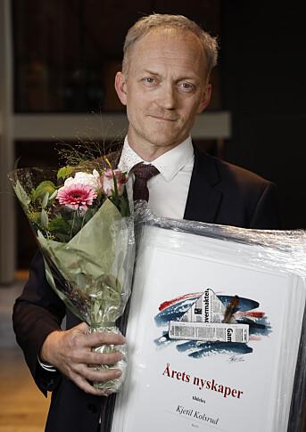 Kjetil Kolsrud mottok pris fra Oslo redaktørforening mandag 25. mai.