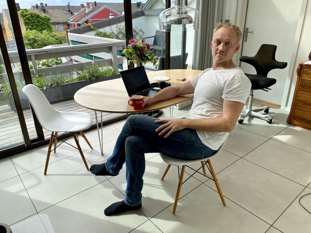 Gründer Kjetil Kolsrud i Rett24 ble tildelt pris for årets nyskaper av Oslo redaktørforening mandag 25. mai.