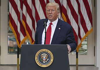 FILE - In this Tuesday, May 26, 2020 file photo, President Donald Trump answers questions from reporters during an event on protecting seniors with diabetes in the Rose Garden White House in Washington. On Tuesday, Twitter took the unprecedented step of adding fact-check alerts to two of Trumps tweets about voting by mail. The next day the president threatened social media companies with new regulation or even shuttering. (AP Photo/Evan Vucci, File)
