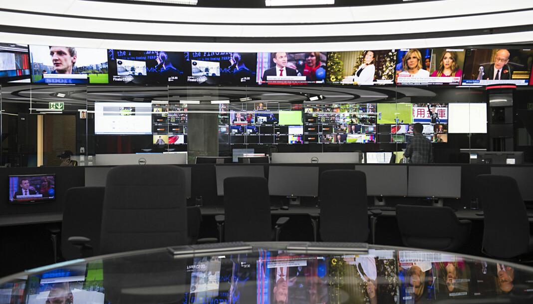 Nesten 500.000 nordmenn kan miste TV 2 s kanaler, om TV 2 ikke blir enige med Get. Her fra studio i Media City i Bergen.