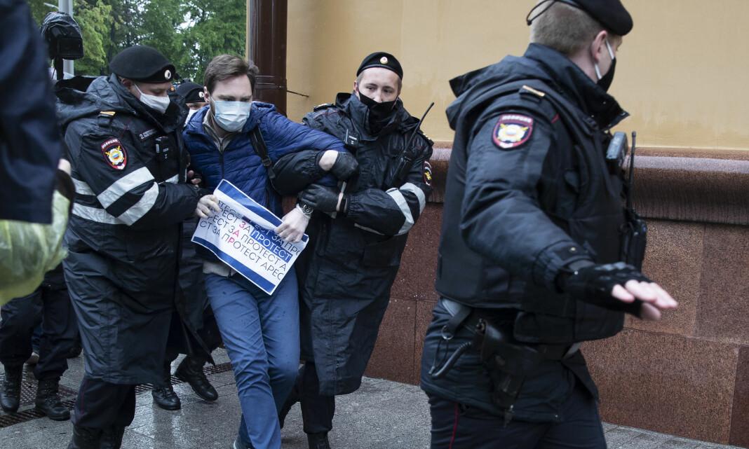 Protesterte mot fengsling av en kjent journalist