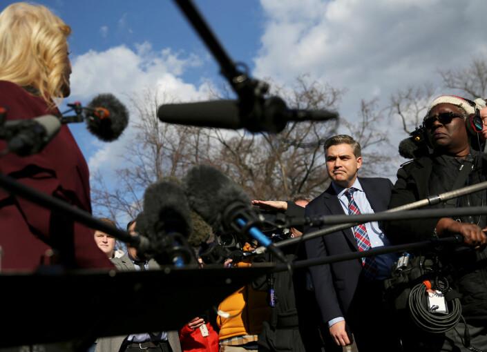 CNN-korrespondent Jim Acosta ble en periode nektet adgang til Det hvite hus.