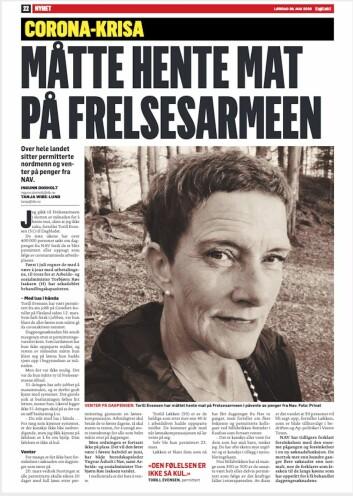 Faksemile, Dagbladet, 30.05.20
