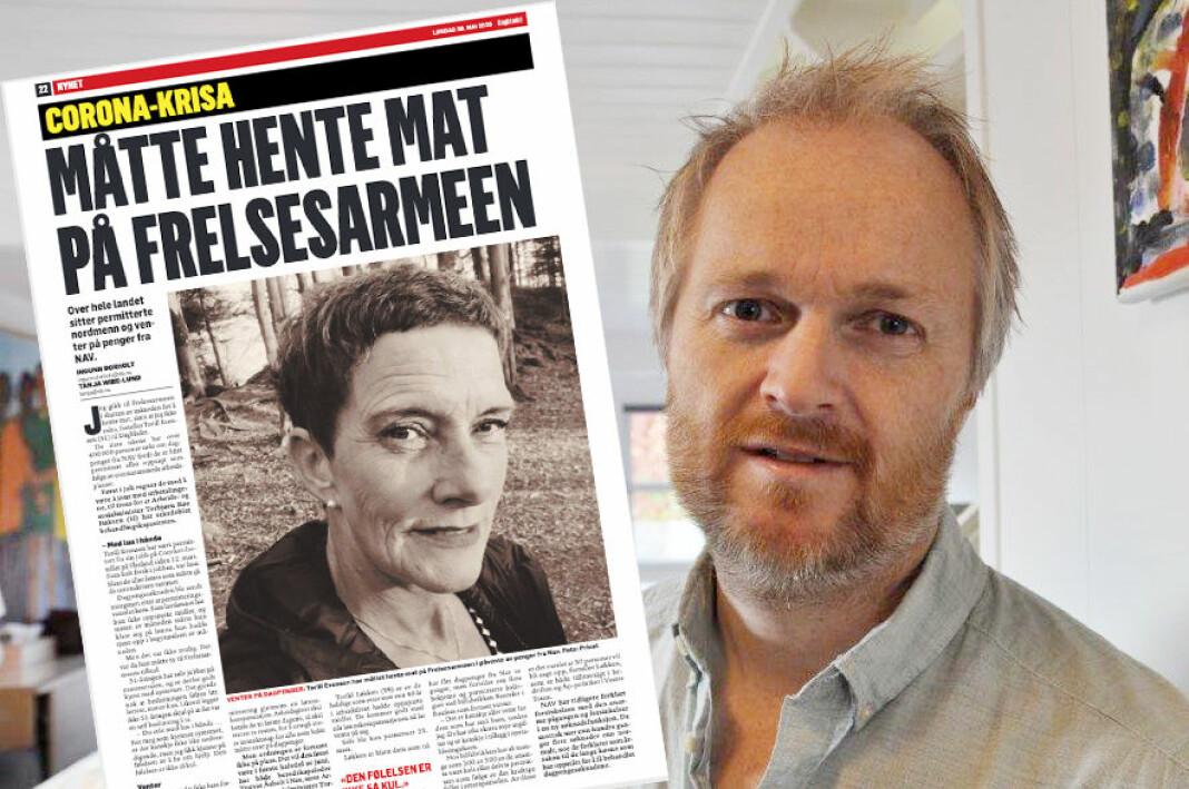 Redaktør i FriFagbevegelse, Frode Rønning, reagerer på Dagbladets fremgangsmåte i denne saken.