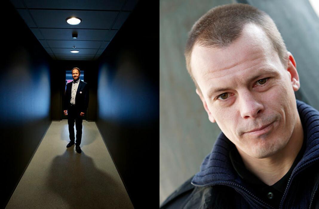 Josimar-redaktør Håvard Melnæs (til høyre) lot generalsekretær Pål Bjerketvedt i Norges Fotballforbund få være en anonym kilde. Det var en tabbe.