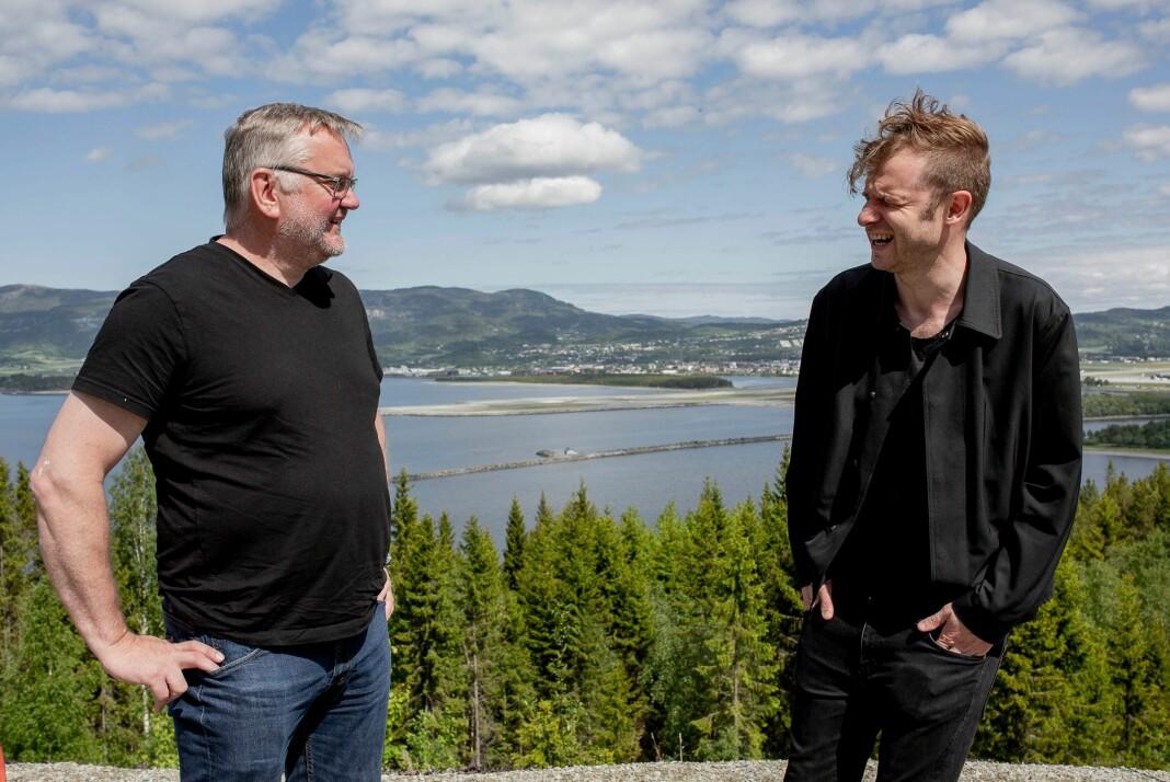 Sjefredaktør John Arne Moen i Trønder-Avisa (t.v.) og politisk redaktør Snorre Valen i Nidaros.