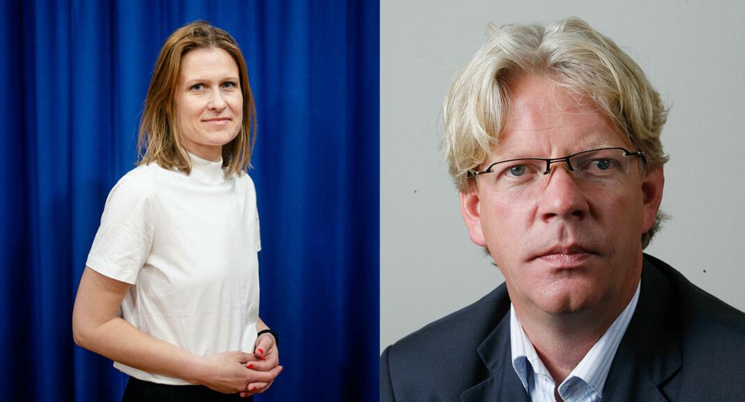 Kristine Foss og Tron Strand i Pressens offentlighetsutvalg ønsker eksempler på at myndighetens koronatiltak har vært for inngripende for pressen.