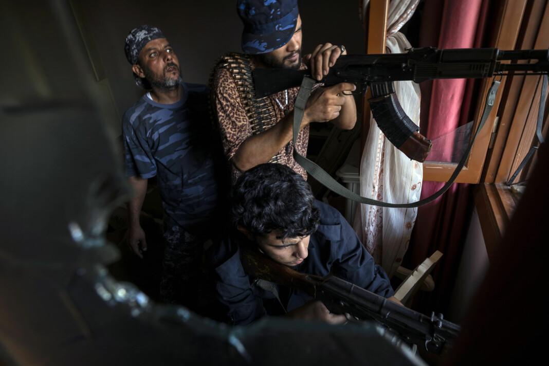Militsgruppen Shelba i Libya fotografert i 2019.