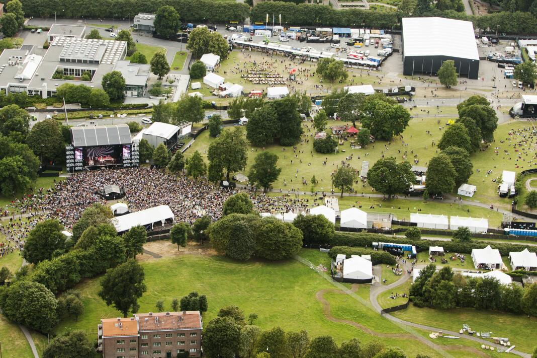 Munch-tomten på Tøyen er drømmetomten for NRK. Her fra 2014, da Øyafestivalen flyttet til Tøyenparken i Oslo.