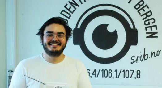 Michael Fabregas Breien er ny ansvarlig redaktør for Studentradioen i Bergen
