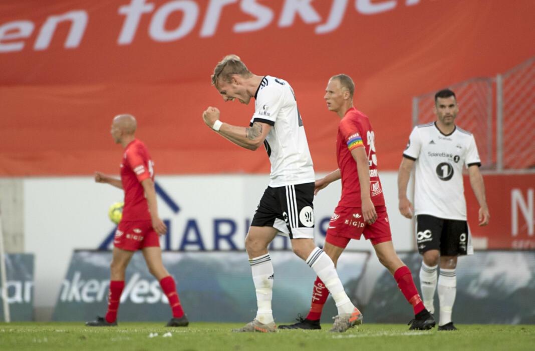 Rosenborg Gjermund Åsen kunne juble for seier i bortekampen mot Brann. Kampen ble den meste sette i Eurosport Norges historie.