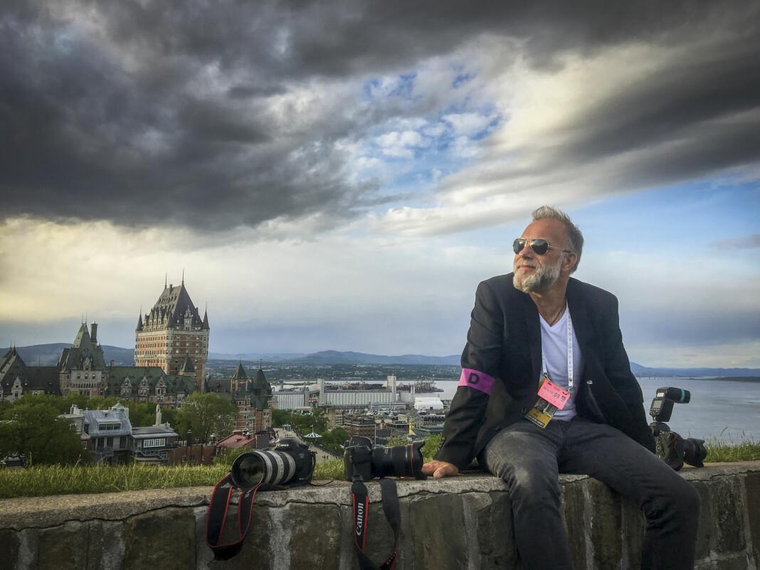 NTB scanpix-fotograf Heiko Junge fotografert under G7-toppmøtet i Quebec i 2018.