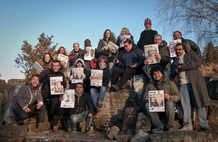 Utrop fungerer som minoritetenes arena for fri informasjon, samfunnskritikk og debatt som angår det flerkulturelle Norge. Redaksjonen består av journalister, skribenter og fotografer fra ulike deler av verden.
