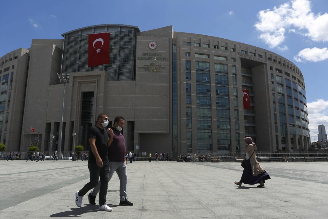 Rettsbygningen i Istanbul der saken mot den tysk-tyrkiske journalisten Deniz Yucel er blitt ført.
