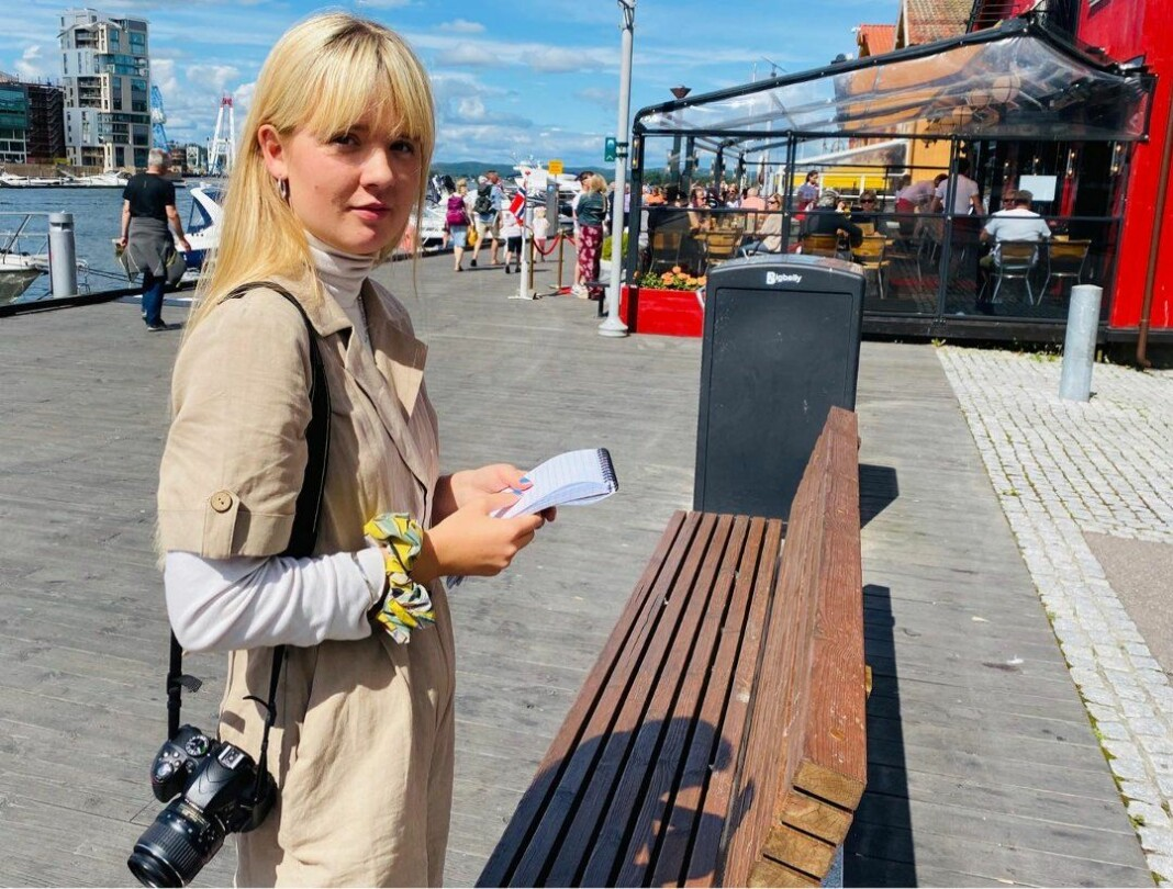 Journalist Johanne Ringøen i Tønsbergs Blad vil ikke finne seg i å bli ufrivillig omfavna av fulle menn mens hun er på jobb.