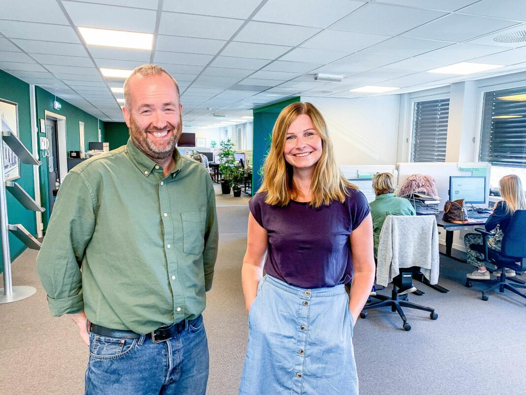Sjefredaktør Eirik Haugen er strålende fornøyd med ansettelsen av Tonje Skjørtvedt. Hun blir nå en del av ledelsen i ØP.