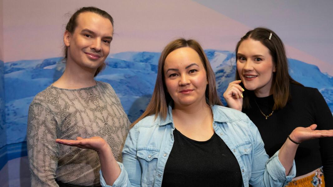 Det visuelle radioprogrammet Ihán på NRK Sápmi består av programlederne Dávvet Bruun-Solbakk, Maret Inger Anti og Isalill Kolpus.