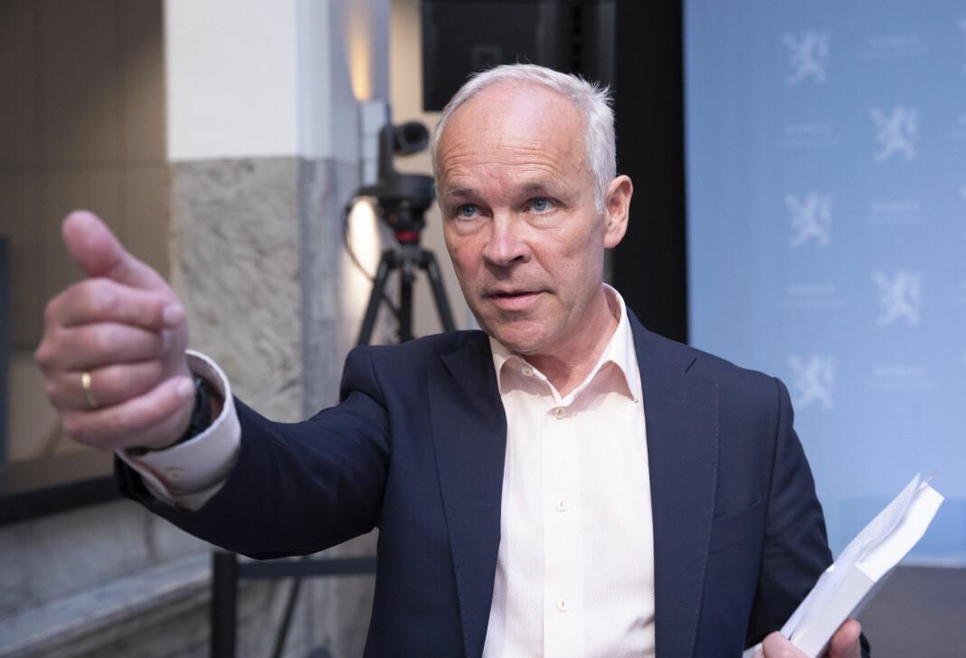 Jan Tore Sanner mener at Norge ikke kan leve med at noe store selskaper ikke betaler skatt av verdiskapningen som skjer her i landet.