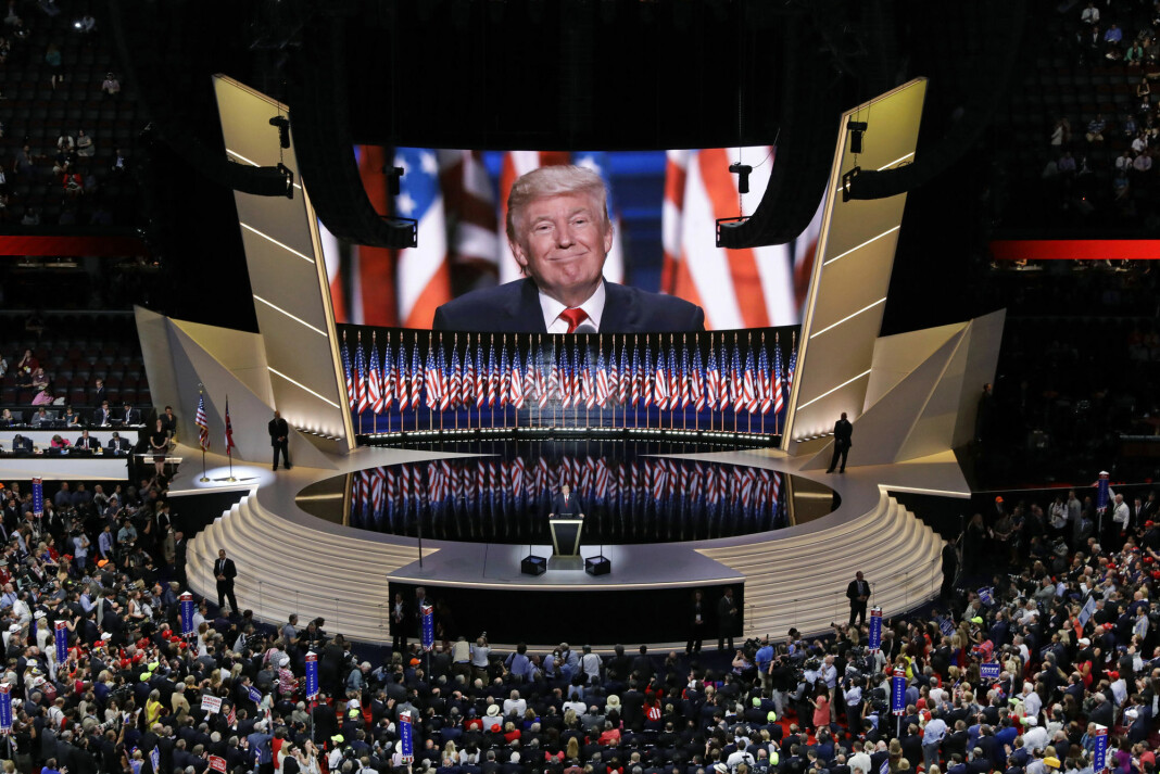 Republikanernes landsmøte i Charlotte i North Carolina, vil gå av stabelen uten at pressen får være til stede, opplyste partiet lørdag. Bildet er fra landsmøtet i 2016.